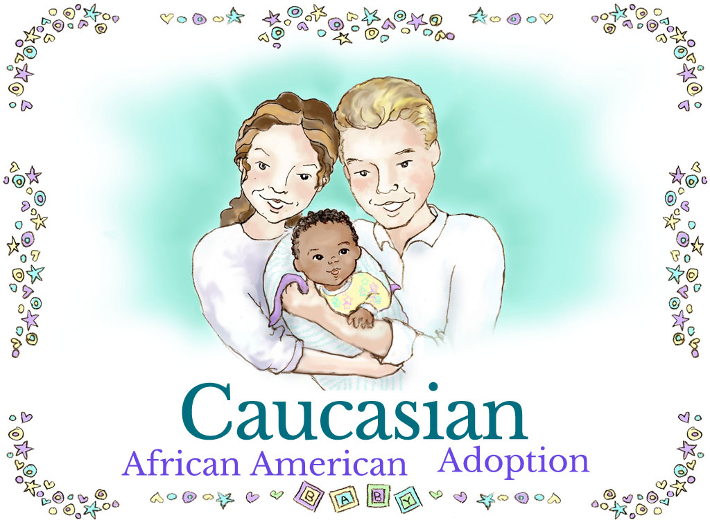 Caucasian African American Adoption Family